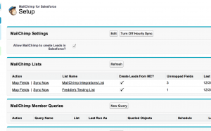 mailchimp for salesforce screenshot